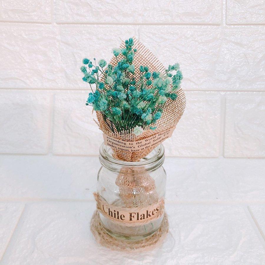 Lọ hoa baby mini màu lam để bàn